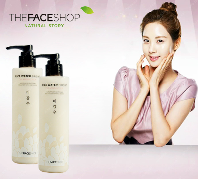 [Thefaceshop]Kem tẩy trang Rice Water Bright Cleansing Foam 150ml