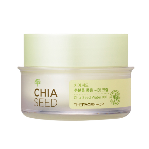 [ The Face Shop] Kem dưỡng ẩm Chia Seed Water 100 Moisture Holding Seed Cream 50ml
