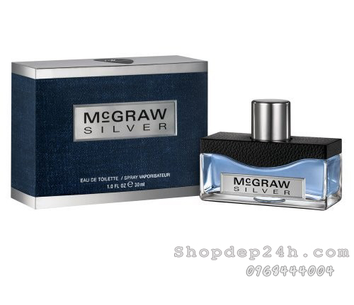 [Tim McGraw] Nước hoa Nam McGraw Silver30ml