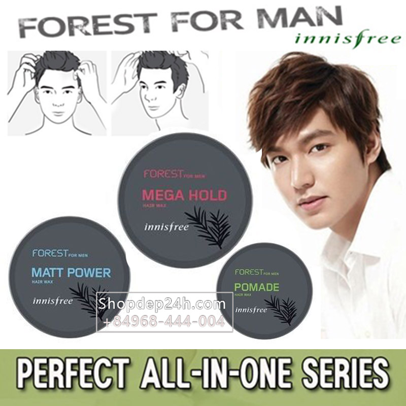 [Innisfree] Sáp wax tạo kiểu tóc Innisfree Forest For Men Hair Wax 3 kiểu - 60g
